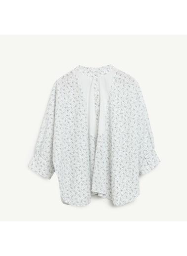 Yargıcı Yarasa Kol Gömlek Beyaz